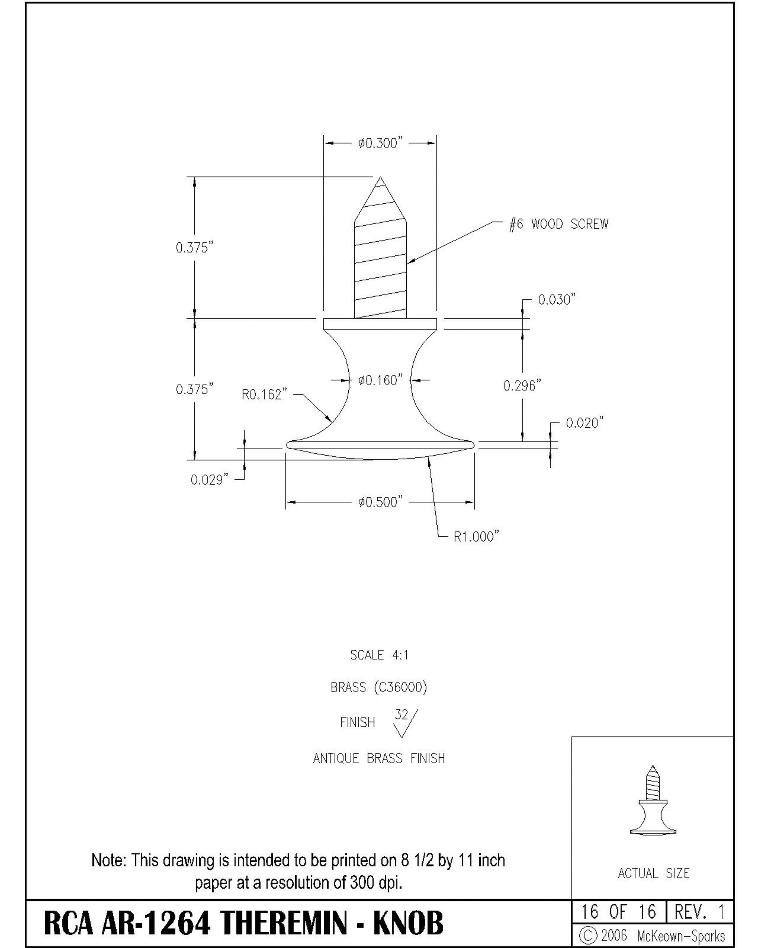 theremin world rca theremin ponent values and cabinet dimensions Nut Brown loop volume antenna drawing 16 knob