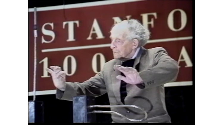 Leon Theremin at Stanford University - 1991