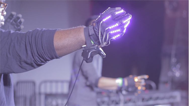 SoundSpace gestural music instrument gloves