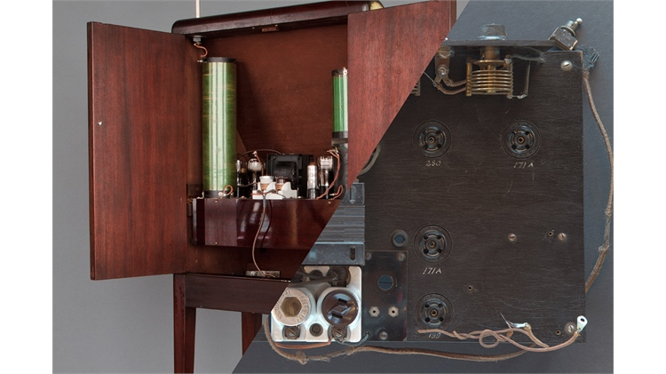 A formerly undiscovered Lev-built theremin with the handwriting of Leon Theremin found inside on the chassis.