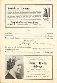 Autographed by Clara Rockmore