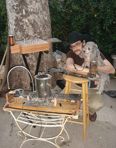 Parker with Western Theremin and Dog
