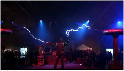 ArcAttack plays Tesla coils like a theremin