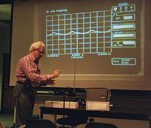 Bob Moog at Vanderbilt University lecture, 1995