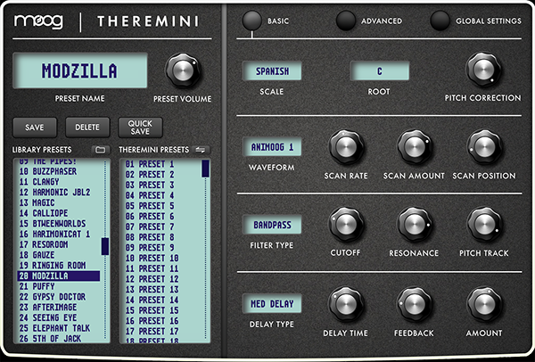Theremini Editor for Mac and PC