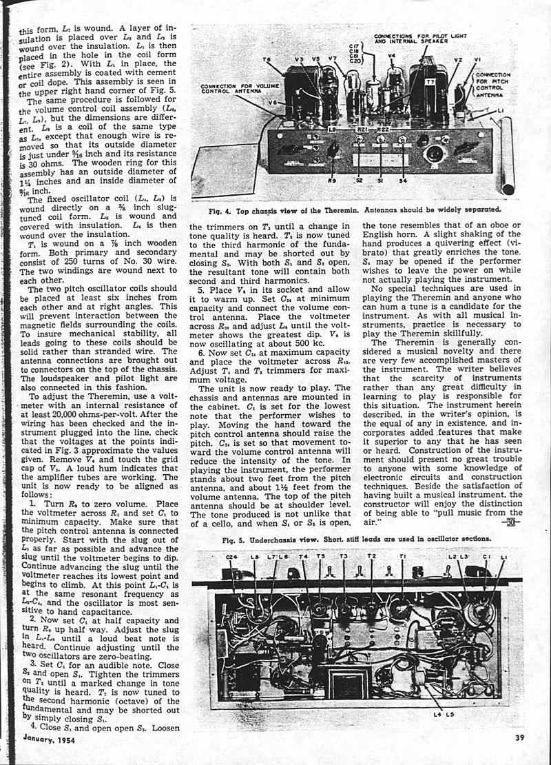 Theremin World Moog 1954 Design Schematics