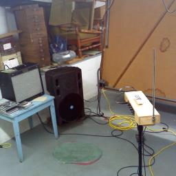 My basement theremin man-cave/ Mollydad