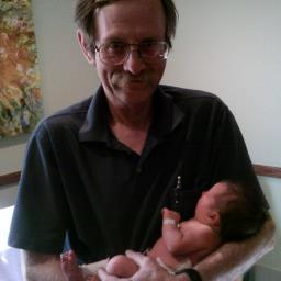 Me and my first great grand girl, Jessie.