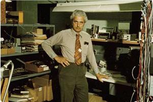 Bob Moog looking good in Early Workshop