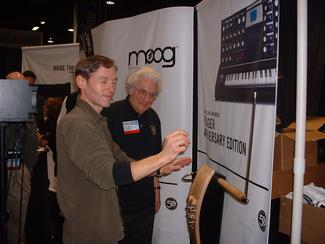 Bob Moog delighted sharing EtherWPro at NAMM
