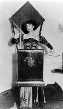 photo of Lucie in black with theremin