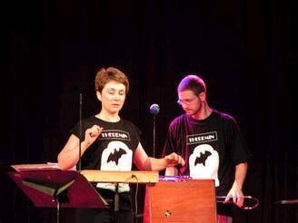 Lydia Kavina and TW founder Jason.
