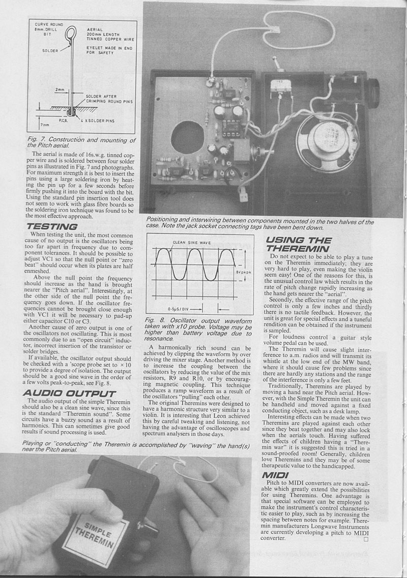 Theremin World Epe Simple Project Schematics Page 5